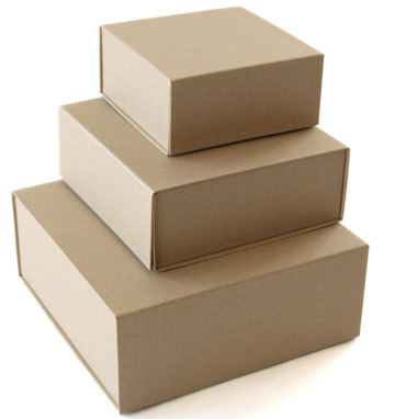 Kraft wrapped collapsible boxes